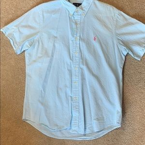 Men's polo button down shirt size large
